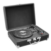Pyle PVTT2UBK - Portable Classic Retro-Style Turntable System with USB-to-PC Connection,