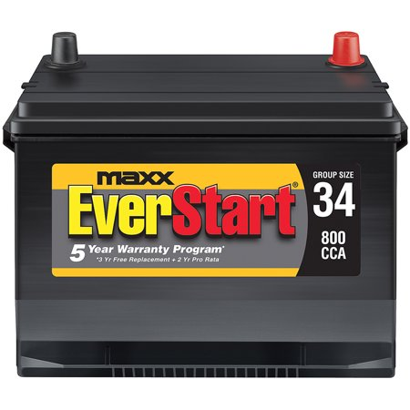 EverStart Maxx Lead Acid Automotive Battery, Group Size 34N