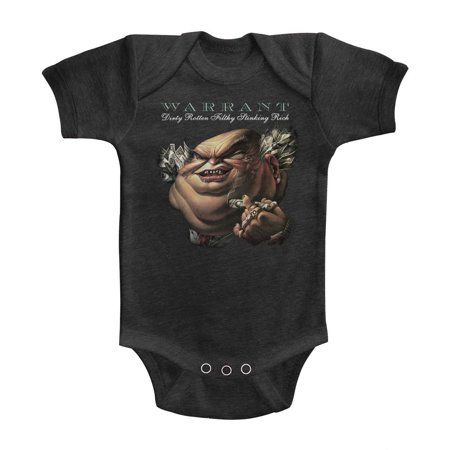 Warrant American Glam Metal Band Drfsr Vintage Smoke Infant Baby Romper  Snapsuit