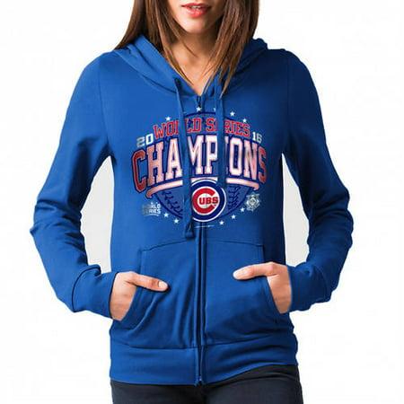huge selection of 5f999 c53db MLB Chicago Cubs Women's 2016 World Series Champs Fleece Zip Front Hoodie