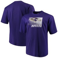 Men's Majestic Purple Baltimore Ravens Big & Tall Reflective T-Shirt