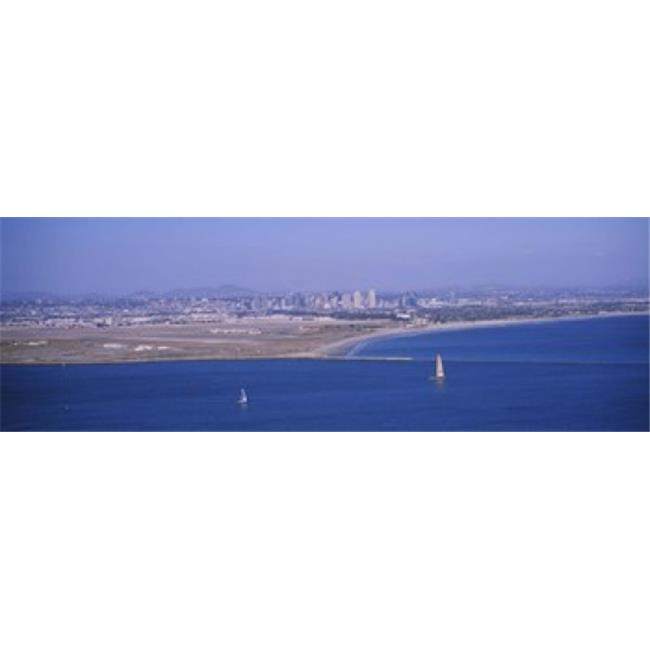Panoramic Images PPI109176L High angle view of a coastline  Coronado  San Diego  San Diego Bay  San Diego County  California  USA Poster Print by Panoramic Images - 36 x 12 - image 1 of 1