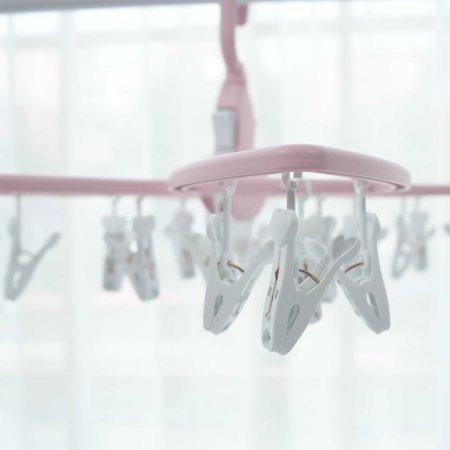 Portable 24 Clips Multi-Purpose Hanger Folding Magic Clothes-Hanger - image 6 of 7
