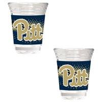 Pitt Panthers 2-Piece 2oz. Party Shot Glass Set - No Size