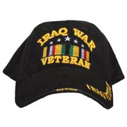 Fox Outdoor 78-502 Embroidered Ball Cap, Black - Iraqi War Veteran