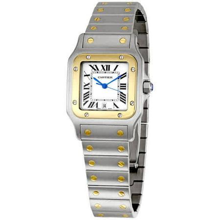 Cartier Santos Quartz White Dial Men's Watch W20011C4