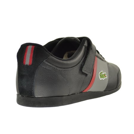 48b65e45159a44 Lacoste Embrun URS SPM Leather Synthetic Men s Shoes Black Dark Grey  7-29spm2020-237