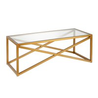 Calix Coffee Table in Brass