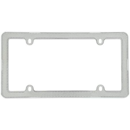 Cruiser Accessories® Glitz™ Silver/Clear License Plate Frame ...
