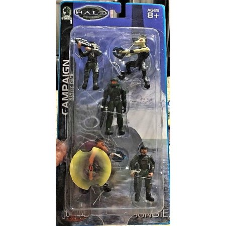 - 2003 Joyride Halo Mini Series 1 CAMPAIGN BATTLE PACK 5 Figure Set MOC #1