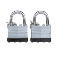 Mountain Security 40mm Laminated Steel Padlock, 2-Pack