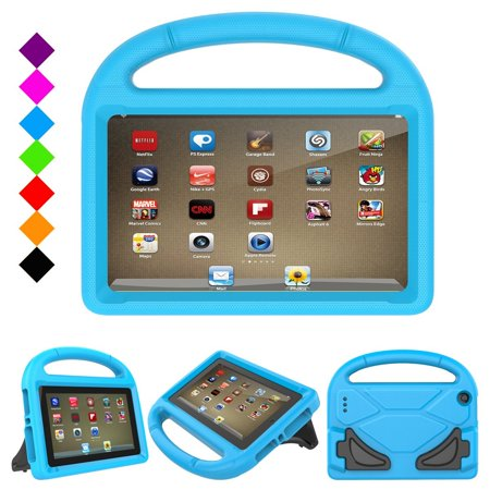 Kindle Fire 7 2017 Kids Case,Fire 7 2015 Kids Case - Goodest Lightweight Shock Proof Handle Stand Kid-Proof Friendly Case for All New Amazon Fire 7 inch Display Tablet Cover 2015 & 2017 Release, Blue