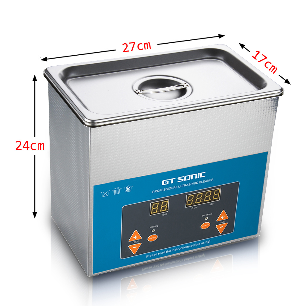 Vgt Sonic Ultrasonic Cleaner 3l Stainless Tank With Digital Timer 110v Mini Jewelry Glasses Circuit Board Watch Cd Machine For Jewellery Watches Metal Parts Razor Dentures Cds Lab