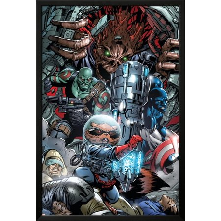 War of Kings No.3 Group: Rocket Raccoon, Drax, Major Vi... Lamina (Raccoon Framed)
