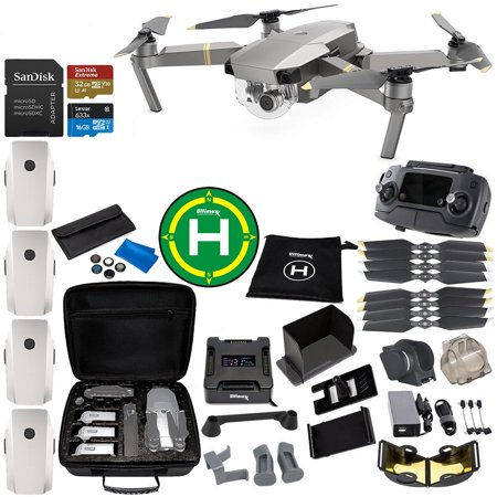 DJI Mavic Pro Platinum Collapsible Quadcopter 4-Battery Ultimate Bundle - CP.PT.00000071.01