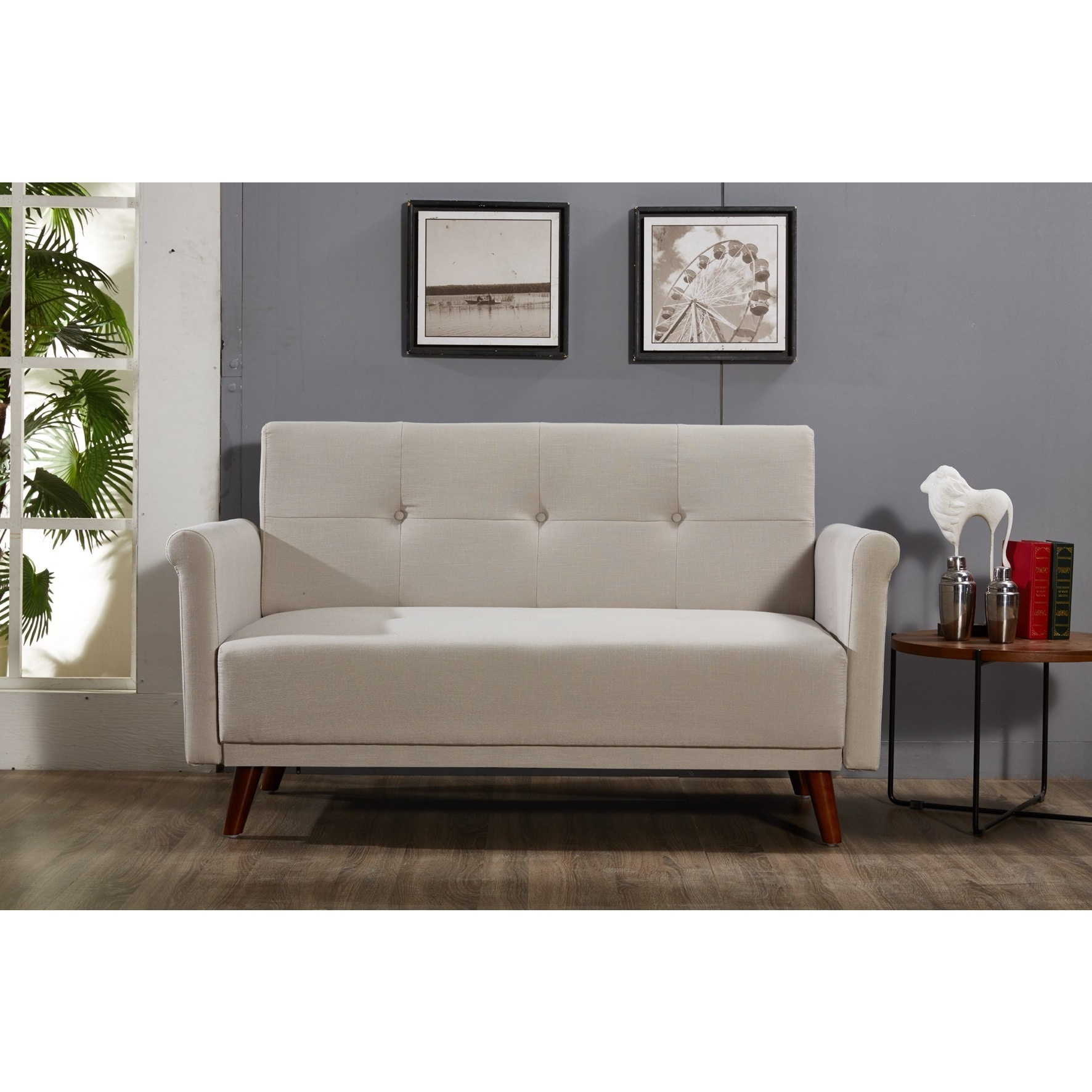 "US Pride Furniture Scully Modern Linen Fabric Button-tufted Upholstered Loveseat - 29""h x 60""w x 37.7""d"