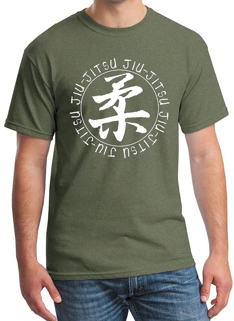 Interstate Apparel Inc Mens Circle Jiu Jitsu Camo Tank Top Camo