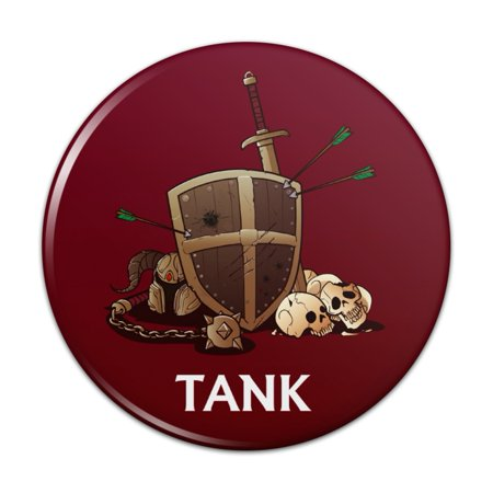 Tank Warrior RPG MMORPG Class Role Playing Game Pinback Button Pin