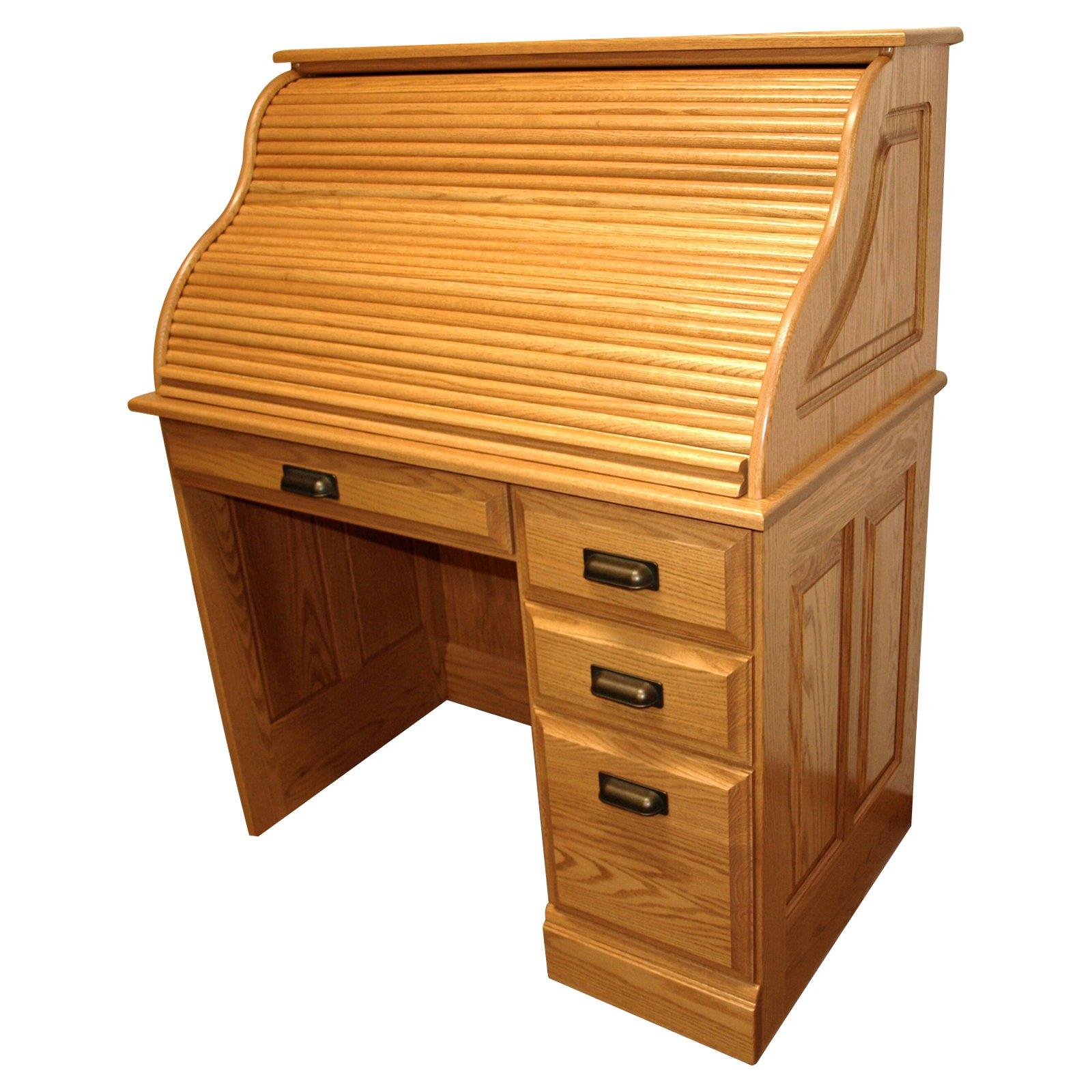 Dakota Handcrafters Single Pedestal Roll Top Desk