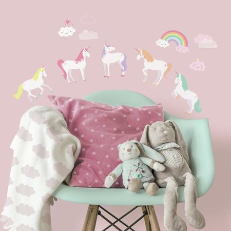 Bee Decals (Harriet Bee Grandison Unicorn Magic Peel and Stick Wall Decal)