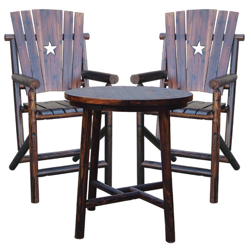 Leigh Country Char-Log 27'' Patio Bar Stool