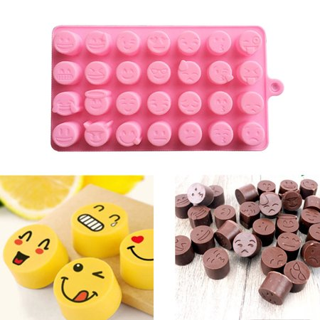 Tuscom Funny Face DIY Silicone For Cake Chocolate Sugar Candy Soap Baking Mold