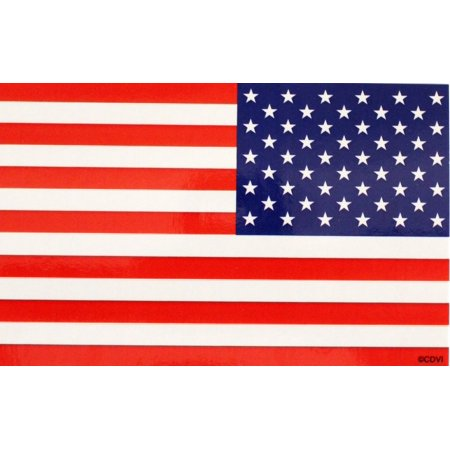 CDX Flags US Flag Reversed, Officially Licensed Original Artwork, Long Lasting Sticker DECAL ()