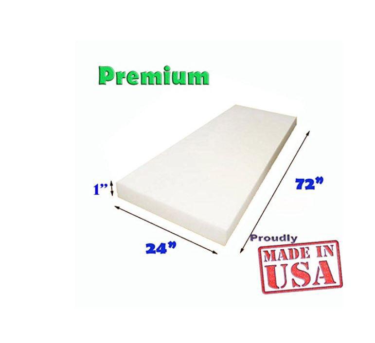 1 X 24 72 Upholstery Foam Cushion