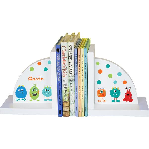 Personalized Monster Mash Childrens Bookends