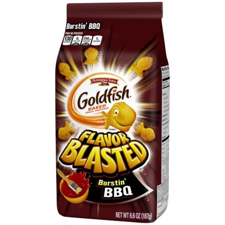 Pepperidge Farm Goldfish Flavor Blasted Burstin' BBQ Crackers, 6.6 oz. Bag - Customize Goldfish Bag
