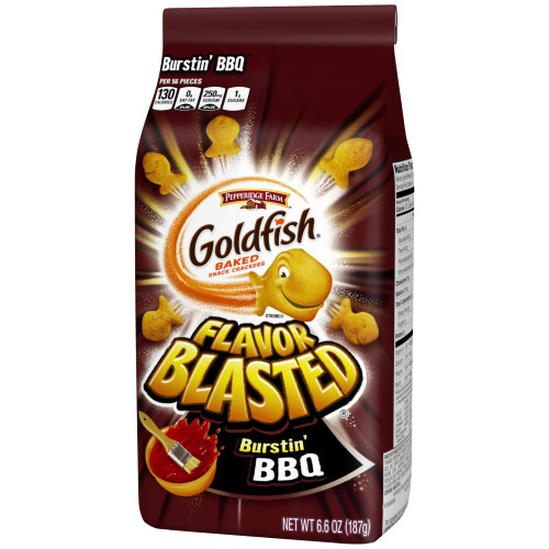 Pepperidge Farm Goldfish Flavor Blasted Burstin' BBQ Crackers, 6.6 oz. Bag