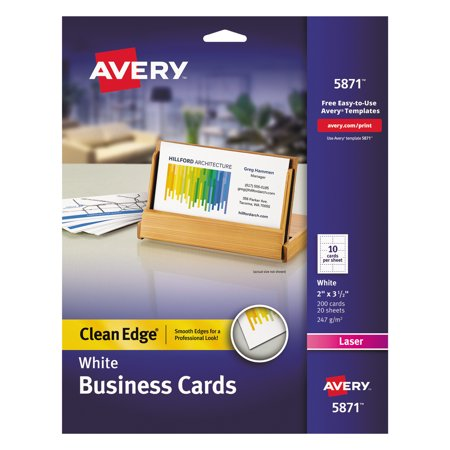 Avery clean edge business cards laser 2 x 3 12 white 200pack avery clean edge business cards laser 2 x 3 12 white colourmoves