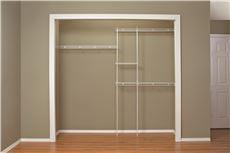 Closetmaid expandable closet organizer 5 ft to 8 ft