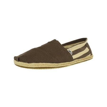 932765e1cd8c Toms - Toms Men s Classic Canvas Stripe Dark Grey University Ankle-High  Flat Shoe - 10.5M - Walmart.com