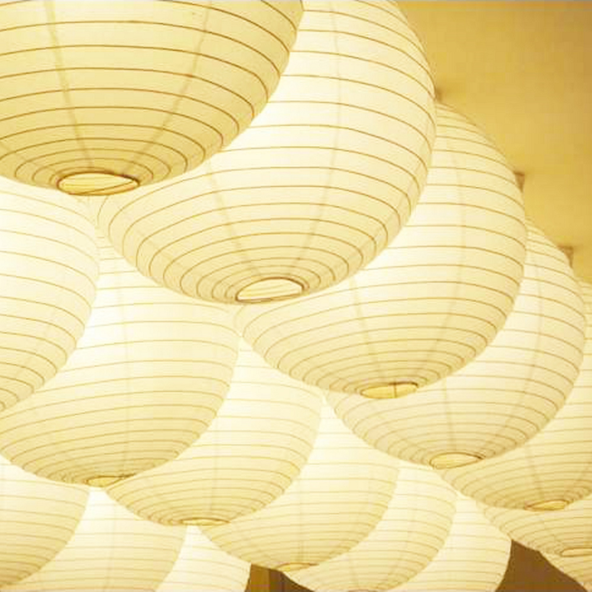 [Novelty Place] Round Wedding White Paper Lanterns Decorations - 8 inch (10 Pack)