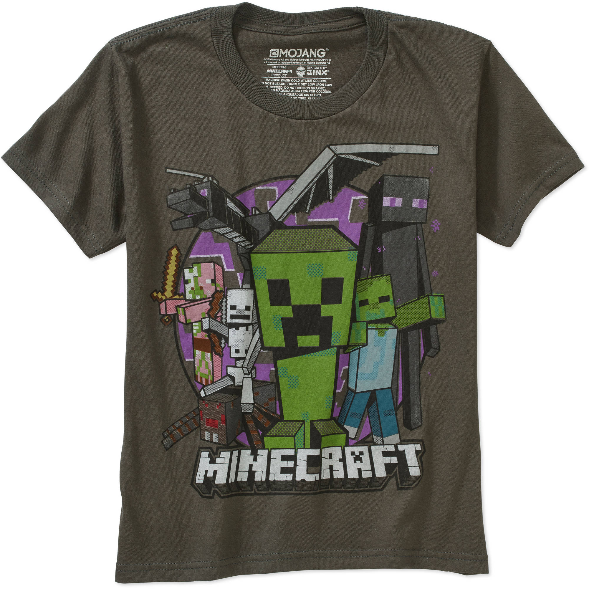 Minecraft Evil Mob Boys Graphic Tee