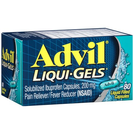 100 Mg 50 Gels - Advil Pain Reliever/Fever Reducer Liqui-Gels, 200 mg, 80 Ct