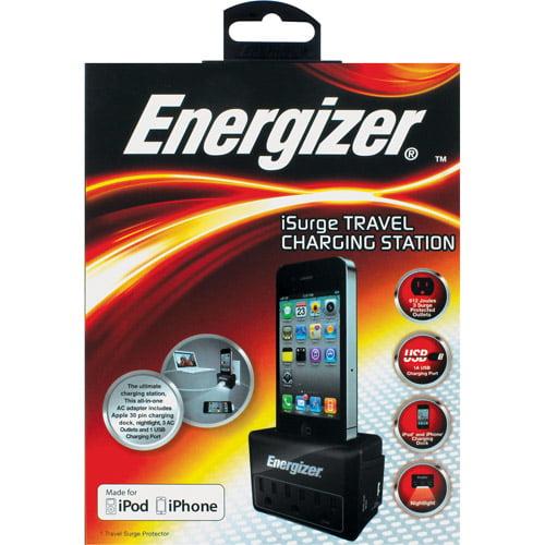 Energizer iSurge Travel Charging Station, Black