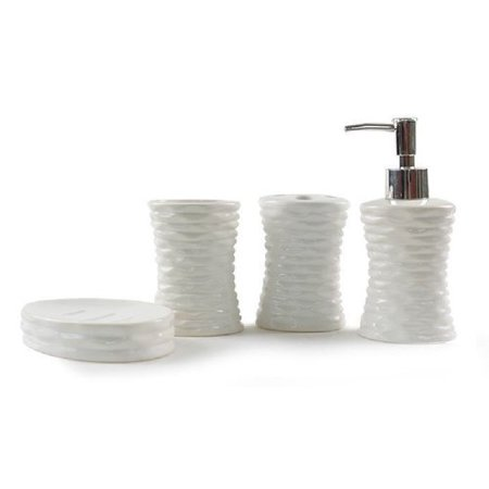 Ebern designs stacia ceramic 4 piece bathroom accessory for 4 piece bathroom designs