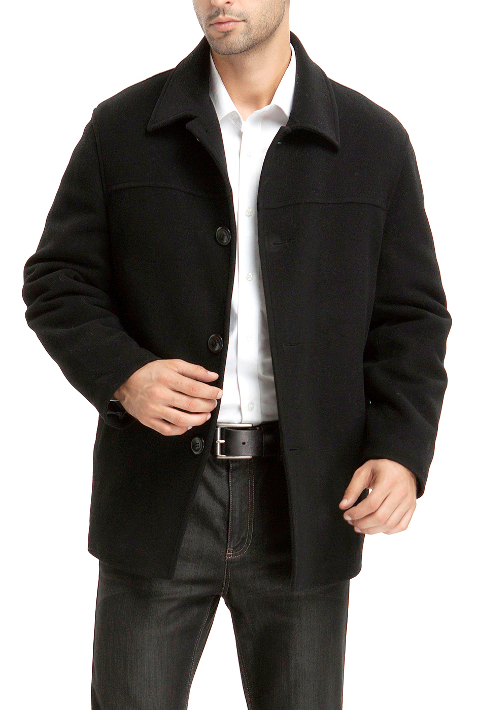 BGSD Men's 'Matthew' Wool Blend Car Coat (Regular Big & Tall) by