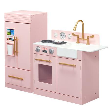 Teamson Kids - Little Chef Chelsea Modern Play Kitchen - (Pine Kitchen)
