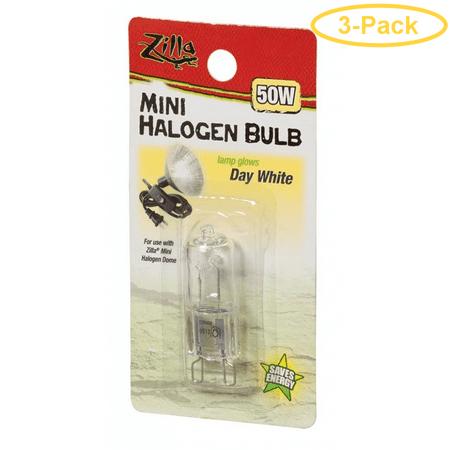 Zilla Mini Halogen Bulb White 50w Pack Of 3 Walmart Com