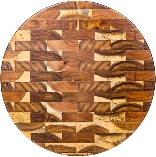 "Palais Dinnerware End Grain Cutting Board - Wooden Butcher Block (13"" Round End Grain)"