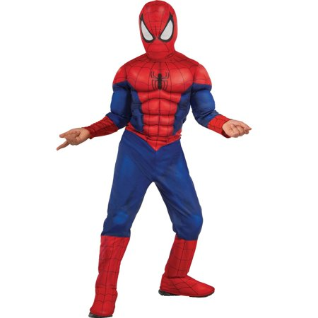 Ultimate Spider-Man Muscle Chest Kids Halloween Costume (Funny Last Second Halloween Costume)