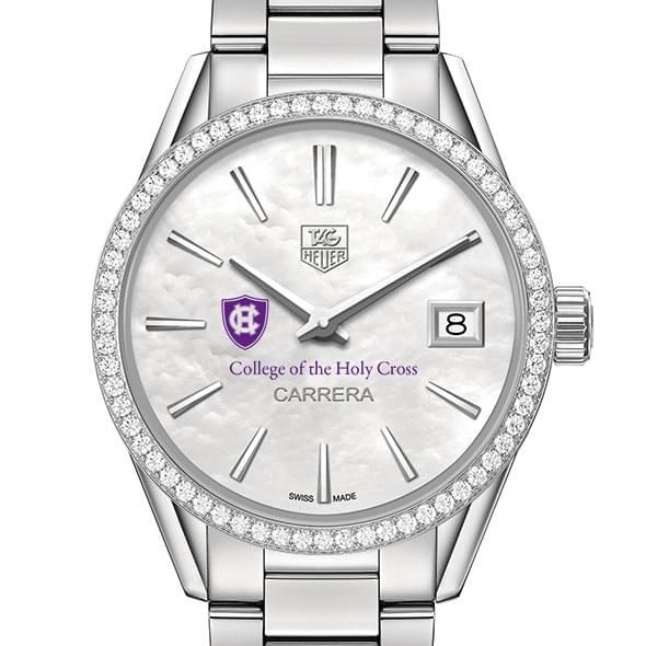 Holy Cross Women's TAG Heuer Steel Carrera with MOP Dial & Diamond Bezel by Tag Heuer