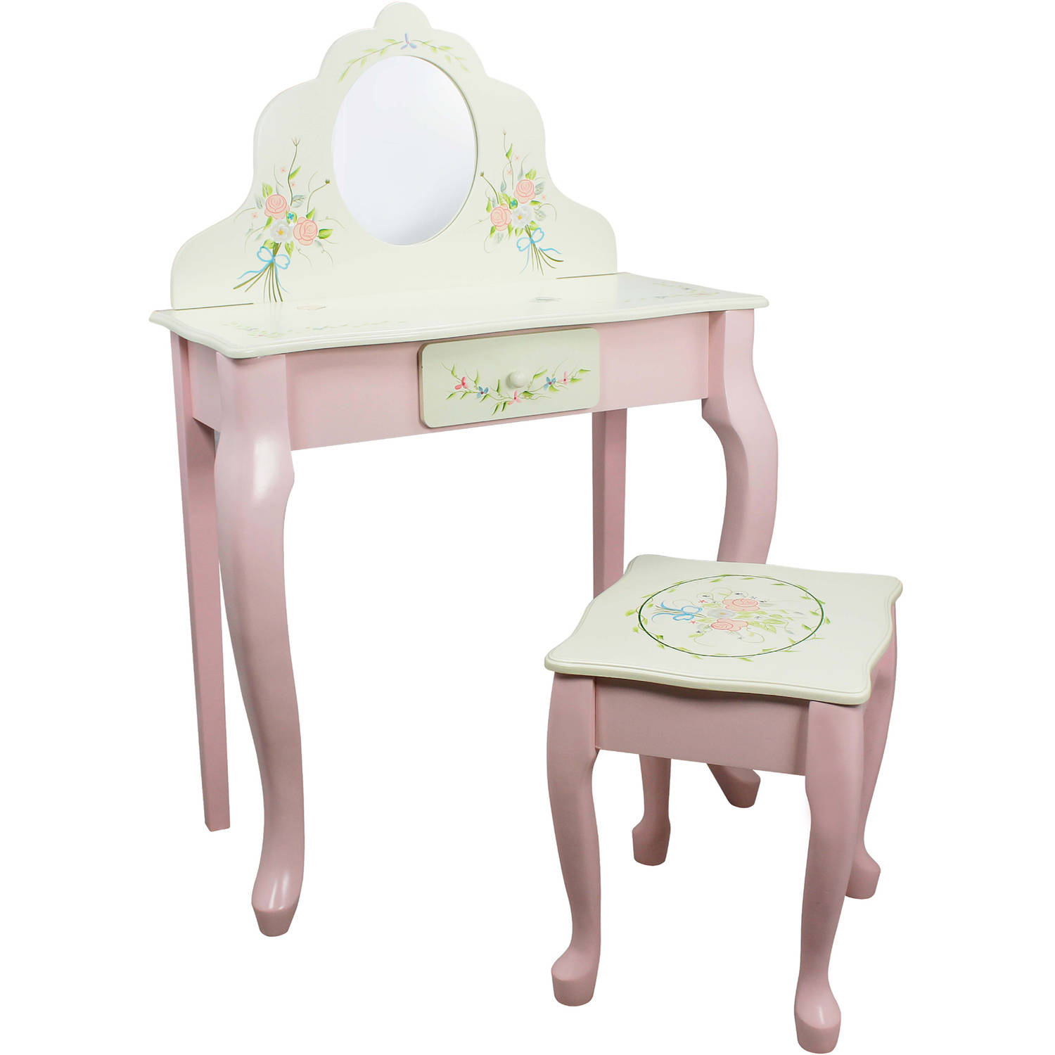 Fantasy Fields Bouquet Classic Vanity Table and Stool Set by Teamson