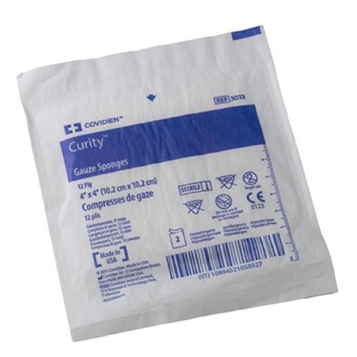 Curity Gauze Sponges 4X4 12Ply Cotton Blend Sterile 2'S-C...