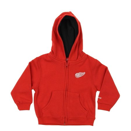 Reebok NHL Toddler Detroit Red Wings Full Zip Fleece Hoodie, Red](X Wing Pilot Hoodie)