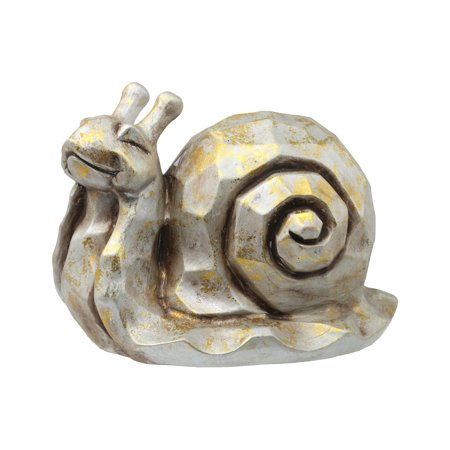 Urban Trends Collection: Terracotta Snail Statue Distressed Finish Gold (Terra Gold)