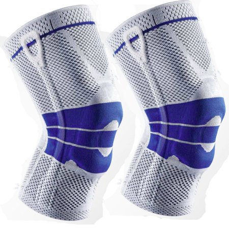 Therapeutic Knee Gel - Pair of Gel Magnetic Patella Knee Support Braces Gray/Blue